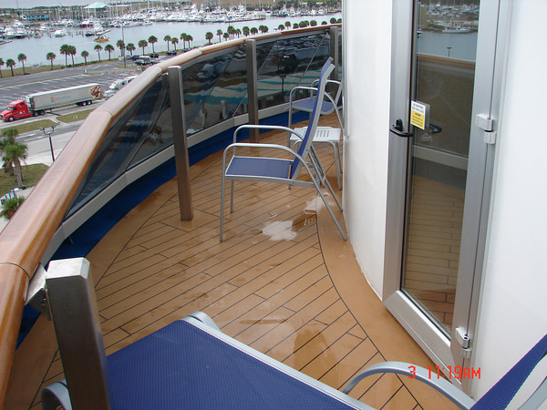 Cruises and destinations our cruise reviews sep 6 2010 for Balcony on carnival cruise